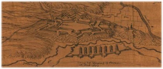 Perspective de Charleroy 1667 et 1668 beaulieu1