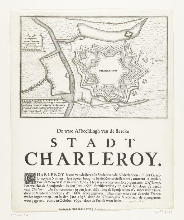 Plattegrond-van-Charleroi,-veroverd-door-de-Fransen-in-1693,-SMALL1199