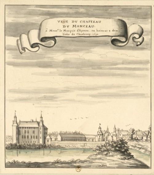 1690-vue du chasteau de monceau