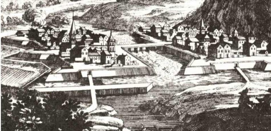 Charleroy, place forte du comté de Namur près de la rivière de Sambre.1692