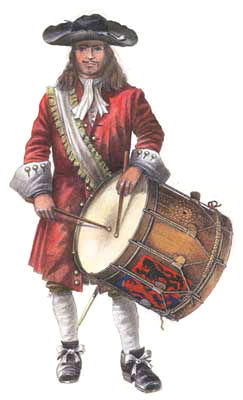 drummer of the Regiment Van Wijnbergen1691