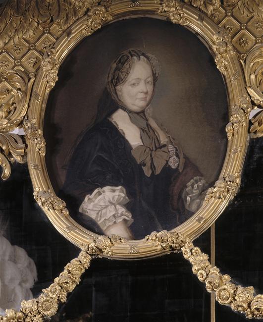 Tapisserie de la Chambre de la Reine exécutée par Michel-Henri Cozette le fils d'après un tableau de Ducreux